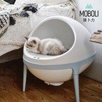 Творческий планета кошек кошачий Лоток Большой полузакрытый ящик для мусора кошки подстилка для животных кошачий лоток чистке для умываль