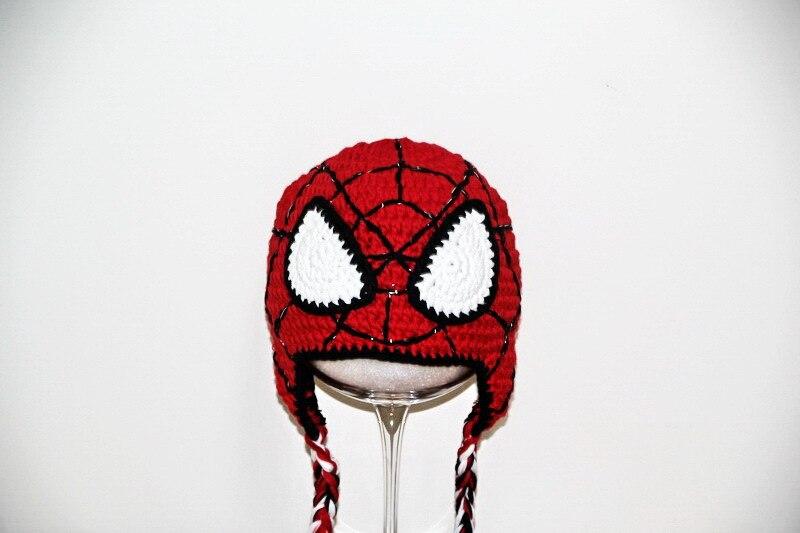 Free Shipping Childrens Spiderman Hatcrochet Spider Man Hat
