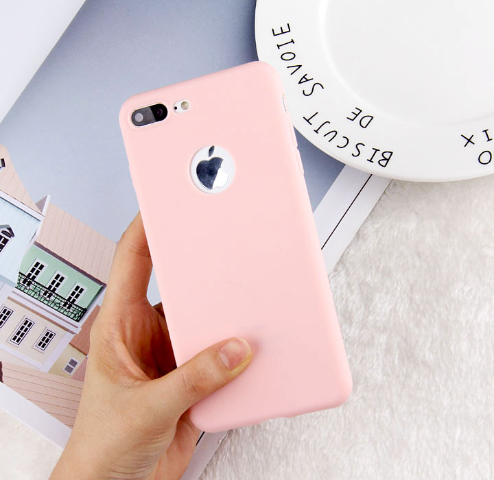 360 Protection Candy Color Soft Silicon Back Cover For Iphone