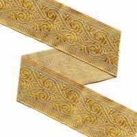 ZERZEEMOOY 49 мм 10 ярдов/лот плетеная жаккардовая из Полиэстера Лента светильник золотой геометрический узор для штор и аксессуары для одежды