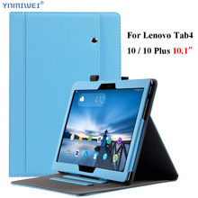 купить PU Leather Case For Lenovo Tab 4 10 TB-X304L TB-X304F/N Slim Smart Wallet Stand Cover For Lenovo Tab 4 10 Plus TB-X704L/F/N недорого
