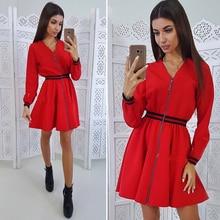 Women's Fashion Zipper Webbing Dress