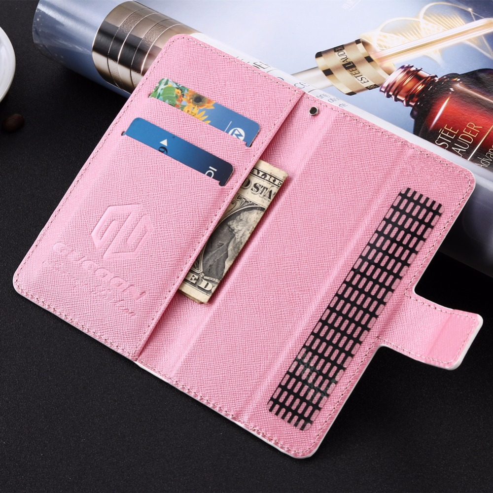 GUCOON Cartoon Wallet Case for Oysters Atlantic V 4.5 Fashion PU Leather Lovely Cool Cover Cellphone Bag Shield