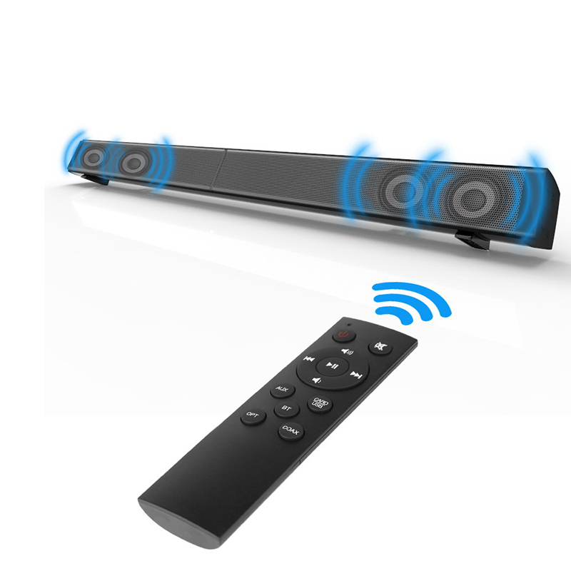 2018 New Mp3 Plastic 2 (2.0) Speaker Bluetooth Sound Bar TV 3d Stereo Soundbar 3.5mm Aux Tf Subwoofer Speakers in for Home Theat цена
