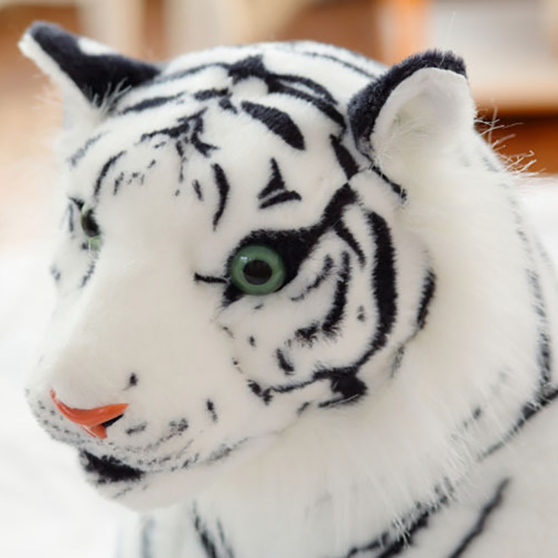 3f2cc44c5d8 Cute Plush White Tigers Stuffed Animals Plush Doll Beanie Boo Ty Vivid Tiger  Model Baby Kids Birthday Gifts Drop Shipping MR19-in Stuffed   Plush Animals  ...