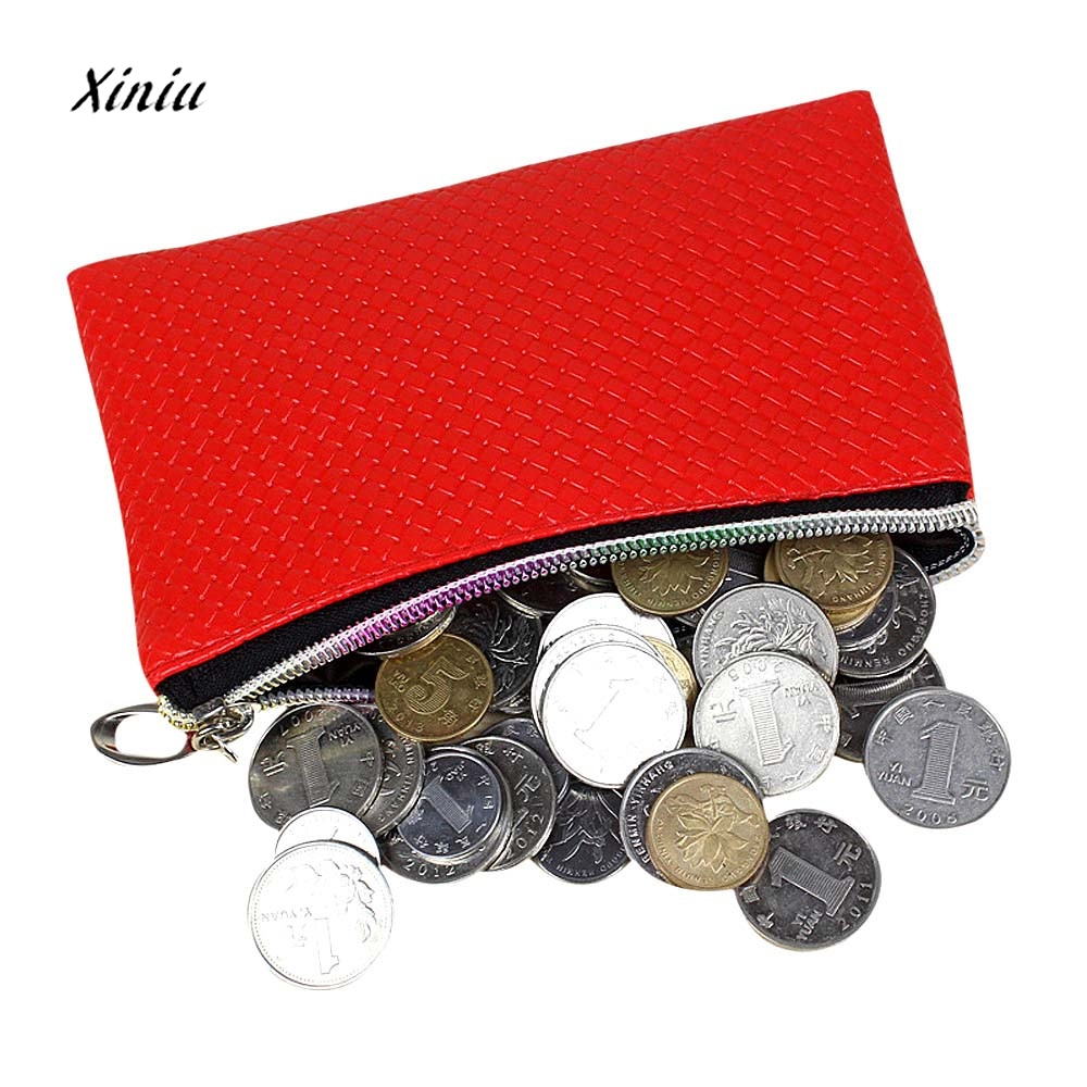 Cheap Hot Sale Women Leather Wallet Coin Purse Zipper Clutch Lady Casual Small Purse Key Credit Card Holder Handbag Bag 2016 cheap wig women lady scheap short