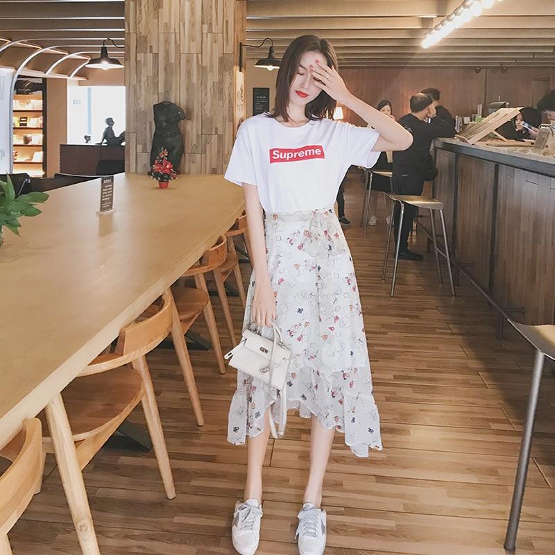 2019 Newly Women Summer Dress Half Sleeves Slim Fit Striped Round Neck Elastic Waist