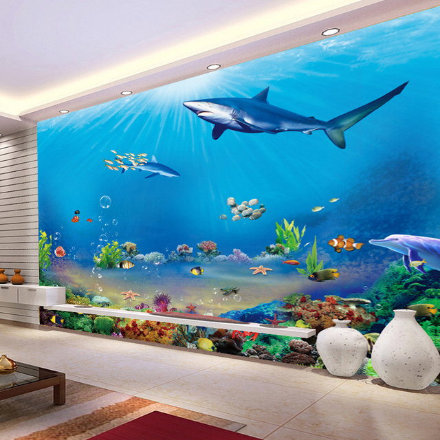 Custom 3D Wall Murals Wallpaper Underwater World