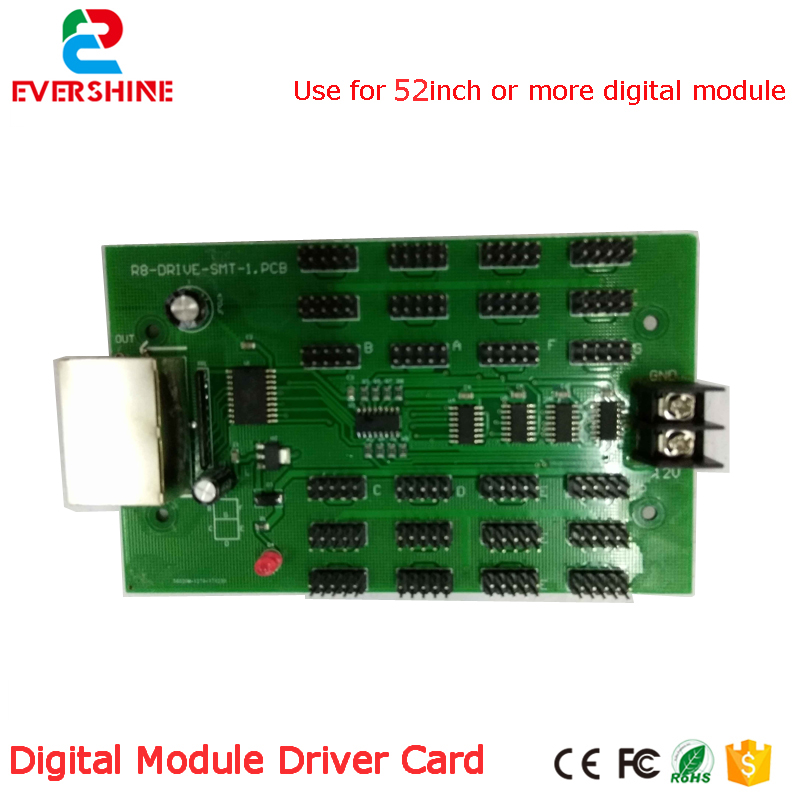 Big digital numbers module driver card use for 52 inch or more LED digital number module gas oil price LED sign control card