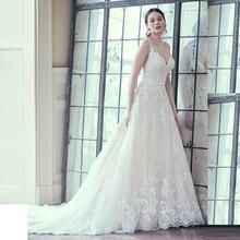 Verngo A-line Wedding Dress Sweetheart Neckline Wedding Gowns Illusion Back Bride Dress Appliques Lace Vestido De Novia