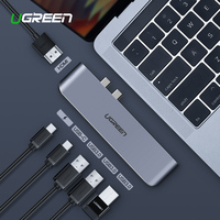 Ugreen USB C HUB Dual Type C to USB 3.0 Splitter HDMI Adapter for MacBook Pro 2016/2017/2018 Thunderbolt 3 USB C Port USB HUB