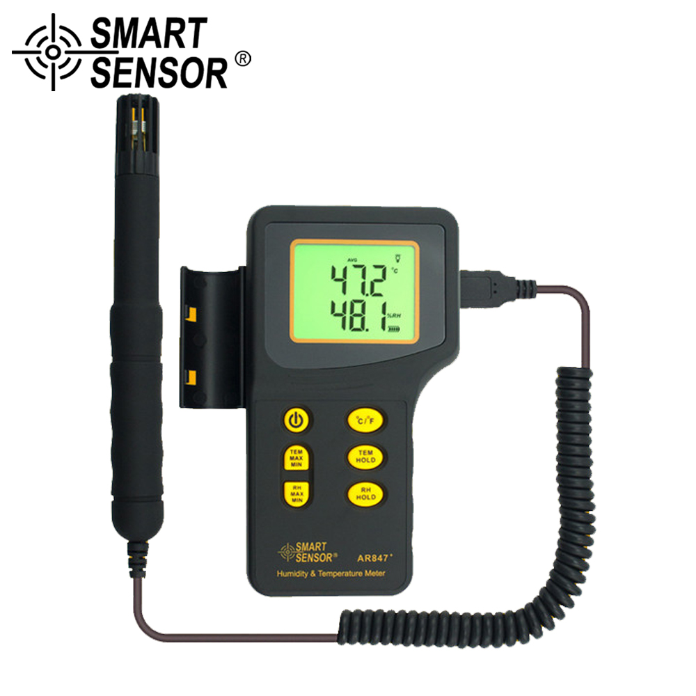 SMART SENSOR 2 in 1 Digital thermometer thermo hygrometer Multi Function K type Thermocouple humidity temperature meter lcd digital humidity and temperature meter gauge type k thermocouple sensor probe 2 in 1 measurement thermometer 10degc 50 degc