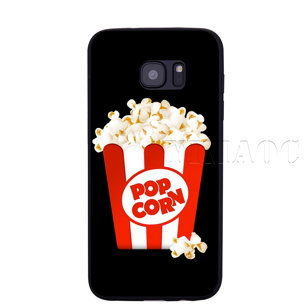 samsung galaxy s6 edge coque silicone pop corn