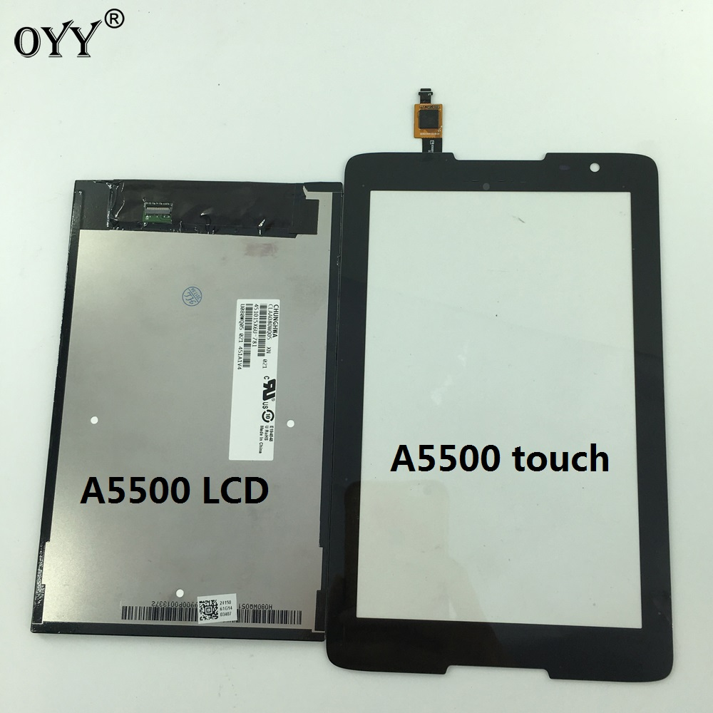 LCD Display + Touch Screen Digitizer Glass Assembly Replacement Parts For Lenovo IdeaTab A8-50 A5500 A5500F A5500-H A5500-HV