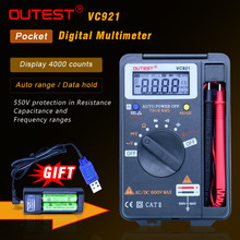 VICTOR 3 3/4 Multitester VC921 3999 DMM Mini Integrated Handheld Pocket Digital Frequency Multimeter FREE SHIPPING