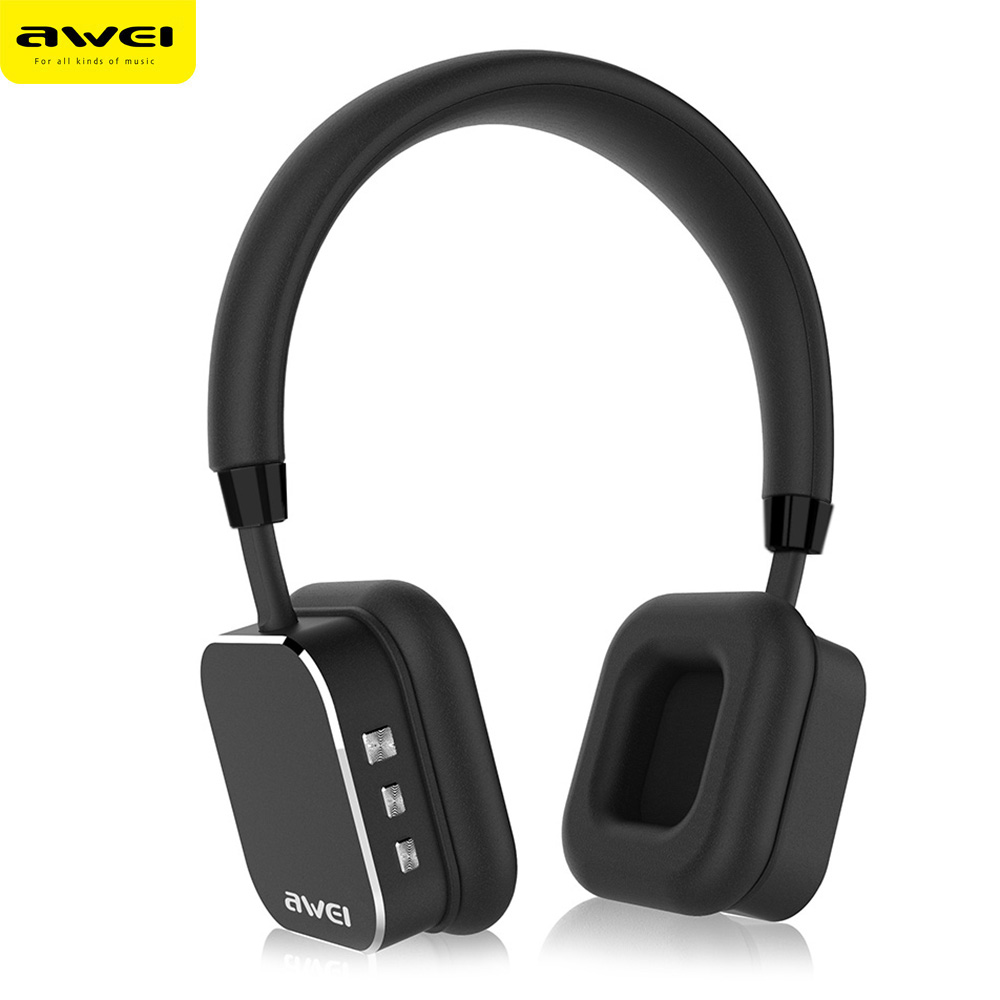 AWEI A900BL Wireless Earphone and Headphones Bluetooth Sport Headset With Microphone App Control For iPhone For Android Phone wireless bluetooth earphone headphones s9 sport earpiece headset with tf card slot 8g auriculares with micro for iphone android