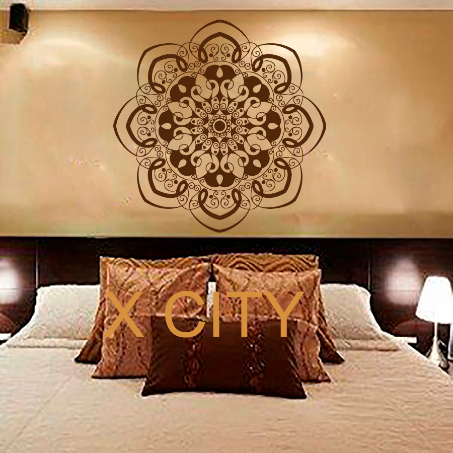 Bohe Mandala Flower Wall Paper Decor Yoga Studio Vinyl: Online Shopping Dorm Design Reviews
