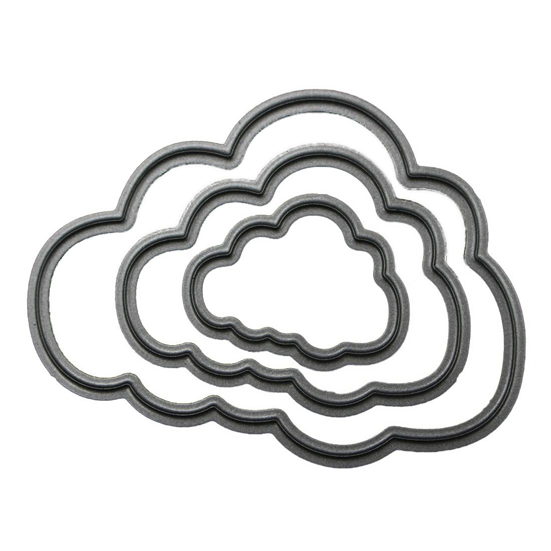 Clouds Metal Die Cuts Metal Cutting Dies 3pcs  Scrapbooking Embossing Folder  Cards Die Cutting
