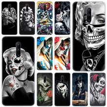 Hot Girl and skull Soft Silicone Fashion Transparent Case For OnePlus 7 Pro 5G 6 6T 5 5T 3 3T TPU Cover