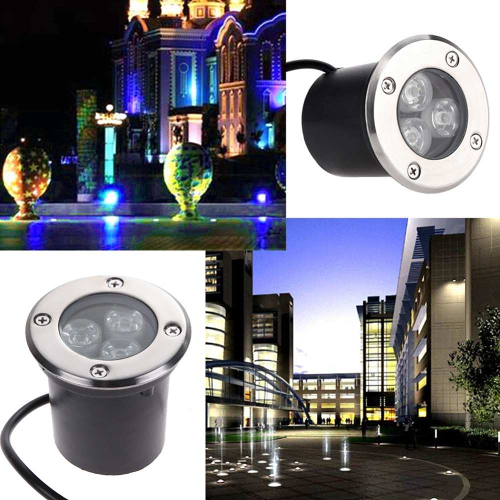 10PCS  IP67 1W LED Outdoor Underground Lamp Light 1W 3W 5W Buried Light  for Garden Landscape Lighting Path Spot Bulbs