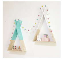 Nordic Style Wooden X Hanging Storage Rack Decoration Frame For Kids Room Living Room Need Assemble by yourself Wood Decor Rack
