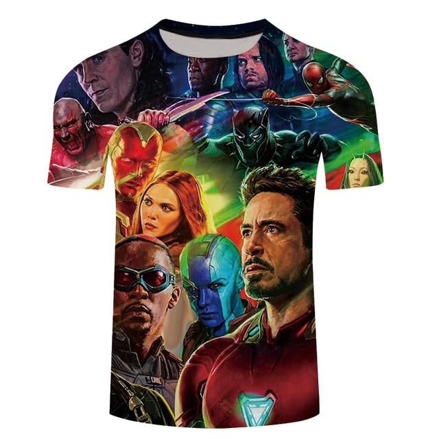 562f46ac 2018 Movie Avengers 3 Infinity War Superhero T Shirt Men Slim 3d Print T-shirt  marvel Tee Shirts Cool Mens Summer Tops Tee