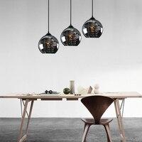3 Heads Black pendant lights sail lang restaurant three word chassis led creative stage crystal pendant lamp glass lamp SJ138