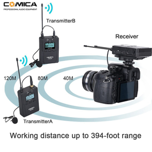 Image 4 - Wireless Lavalier Microphone System, Comica CVM WM200 UHF Wireless Lapel Mic for DSLR Camera, XLR Camcorders Video Recording