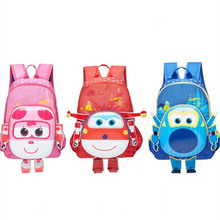 Anime Super Wings schoolbag Model Mini Planes toy Transformation Airplane Robot Action Figures superwings toys for kids 33CM 2018 high quality super wings control centre with planes action figures transformation toys for children birthday gifts