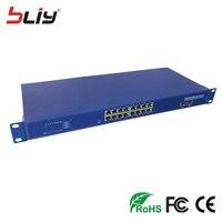 48 В 16 POE порт коммутатора Оптическое волокно 16 RJ45 PoE ports + 2 sfp 19 ''шасси Оптическое волокно POE Networking media Converte для IP камеры