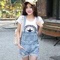 2015 estilo del verano de mezclilla más el tamaño del agujero Shorts Denim mujer trajes Casual Loose Jeans Short