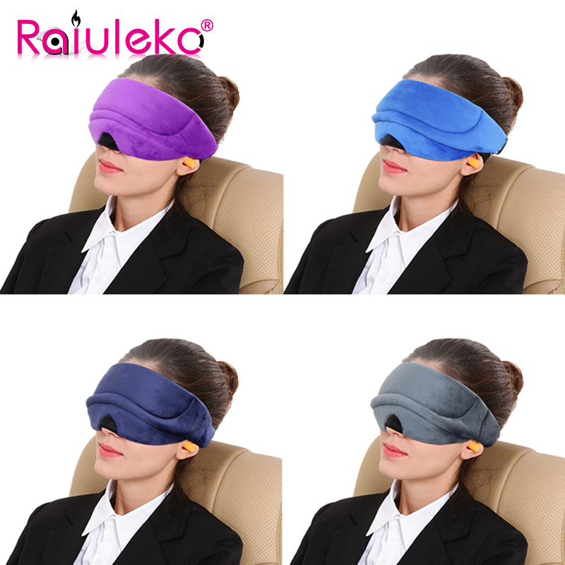 Summer 3D Sleeping Bandage Sleeping Eyes Mask Cover Breathable Sleep Eye Mask Eyeshade Soft Velve for Travel Rest Adjustable