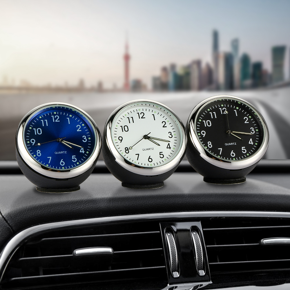 Car Clock Ornament Auto Watch Decoration Automobiles Interior Dashboard Time Display Digital Pointer Clock In Car Accessories mini car automobile digital clock auto watch automotive thermometer hygrometer decoration ornament clock in car accessories