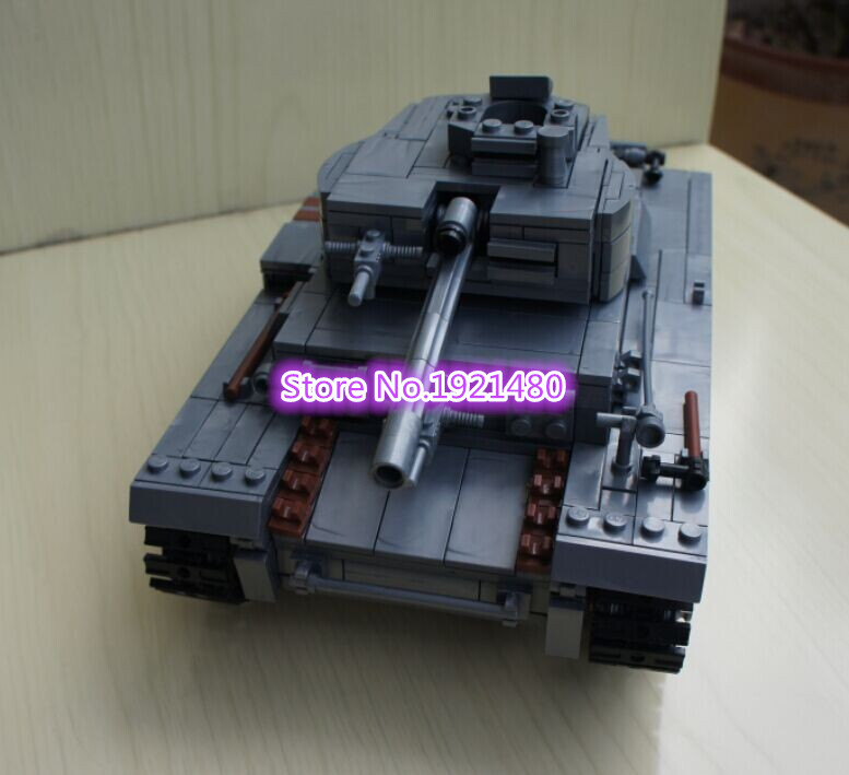 AIBOULLY 82009 Century Military Blocks German Light Tank II Ausf L Luchs Building Block Armored Vehicle Model Toys For Children