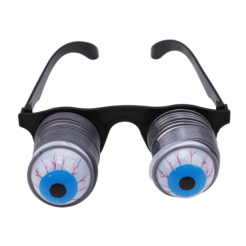 Halloween Funny Personality Scary Horror Eyeball Dropping Glasses Personality Tricky Prank Eyes Joke Gags Toy