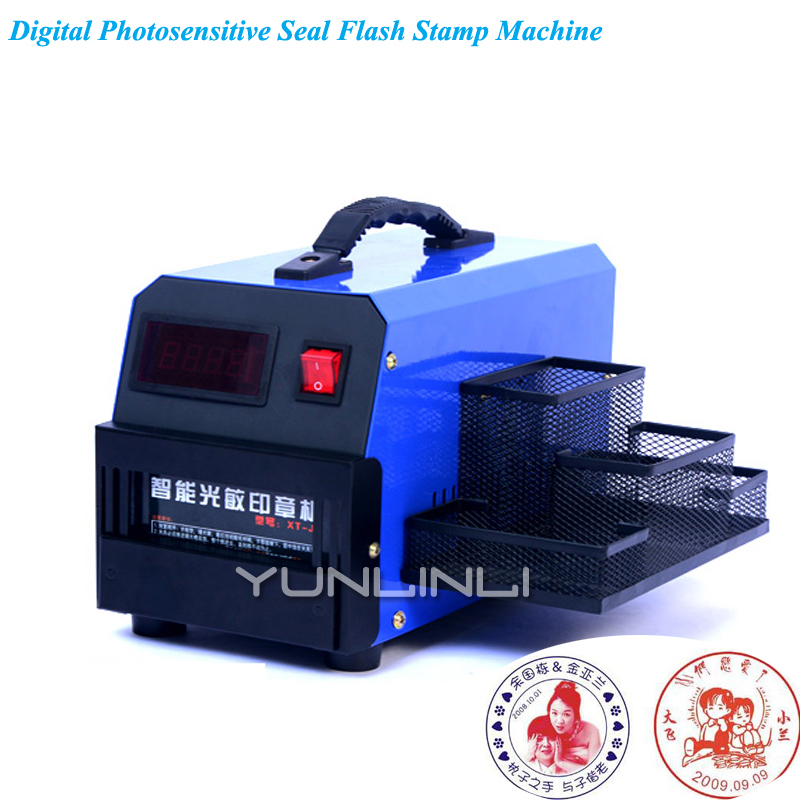 Photosensitive Stamping Machine Digital Photosensitive Seal Flash Stamp Machine Stamping Making Seal for Business Seals XT-J3 цена