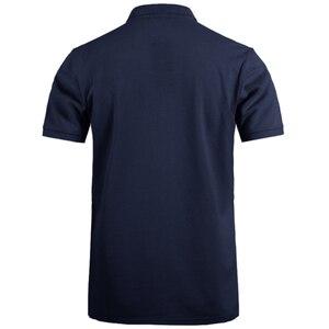 Image 5 - Пионерский лагерь, брендовая одежда, мужская рубашка поло, мужская деловая Повседневная однотонная мужская рубашка поло с коротким рукавом, высокое качество, чистый хлопок
