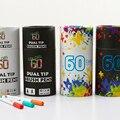 60 farbe Dual Tip Pinsel Stifte Feine Liner Marker Stifte Aquarell Pinsel Stifte Zeichnung Skizze für Kunst Marker Runde Geschenk paket Kunst-Marker    -