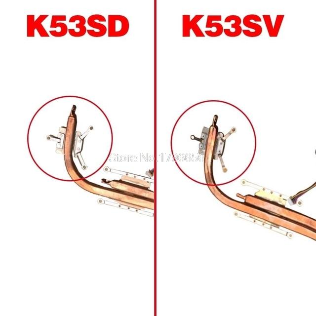 Pour Asus K53 X53 K53S A53S X53S K53SV K53SM K53SJ K53SC K53SD Ordinateur Portable CPU Ventilateur De Refroidissement Radiateur Radiateur Refroidisseur KSB06105HB