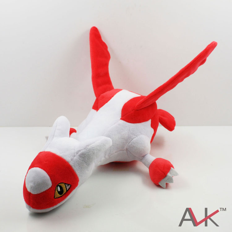 New 1 PCS Pikachu plush toys Red Latias Blue Latios Soft Stuffed Doll With Tag Anime Cartoon toy Approx 30cm/12