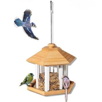 Outdoor wild bird protection feed feeder villa garden decoration bird watching bird feeder ZP3301339
