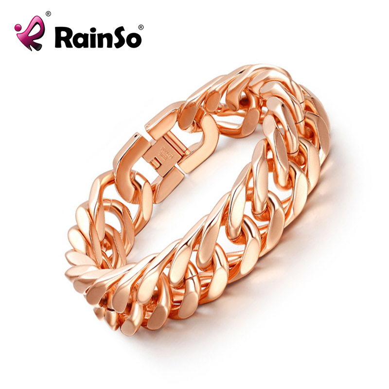 Fashion Man Woman Bracelet Rose Gold 316L Stainless Steel Bracelets Hand Chain for Casual Party candy coloured string hand chain bracelets