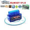 ELM327 V1.5 Оборудования Стабильной Функции OBD OBDII Code Reader ELM 327 Bluetooth V1.5 Работает НА Android Крутящий Момент Автомобиля Диагностический SCAN