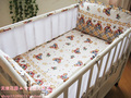 Promotion! 5PCS Bear Crib bedding set baby crib bed linen boys girls baby Bedding set berco Crib Bumper,include:(bumper+sheet)