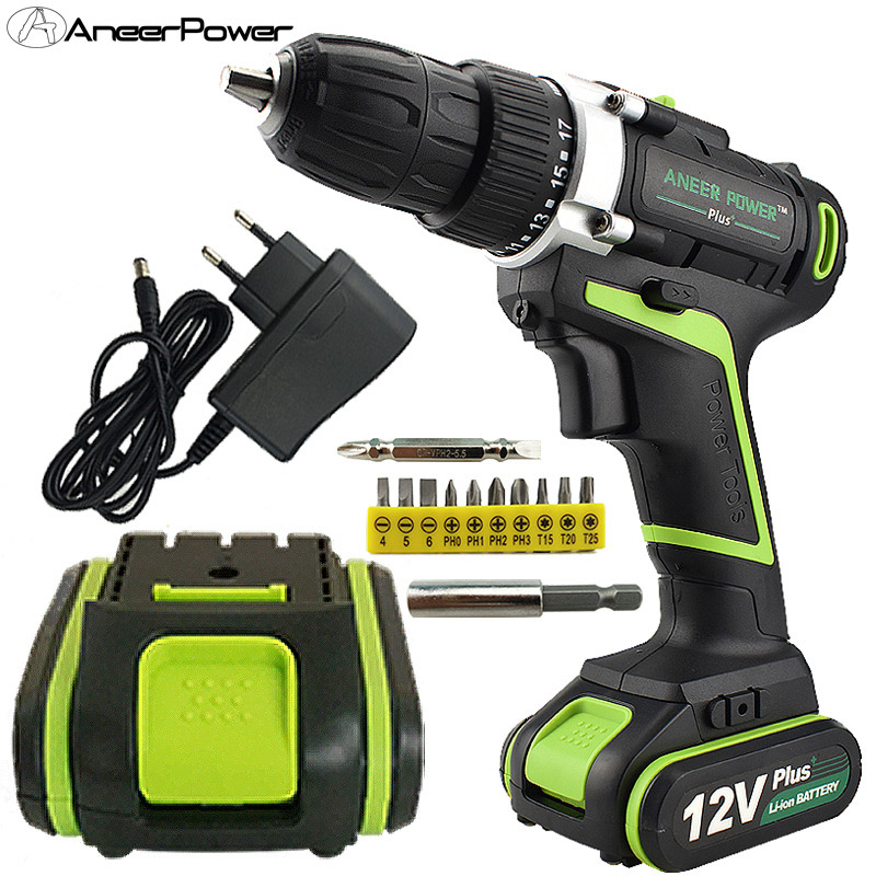 12v Plus Cordless Screwdriver Power Tools Battery Screwdriver Mini Drill Electric Drill Bit Hand Drill Batteries Mini Drillling free shipping brand proskit upt 32007d frequency modulated electric screwdriver 2 electric screwdriver bit 900 1300rpm tools