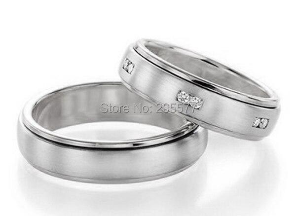 2014 Классический белый цвет золотистый здоровья titanium обручальное пары promise ring