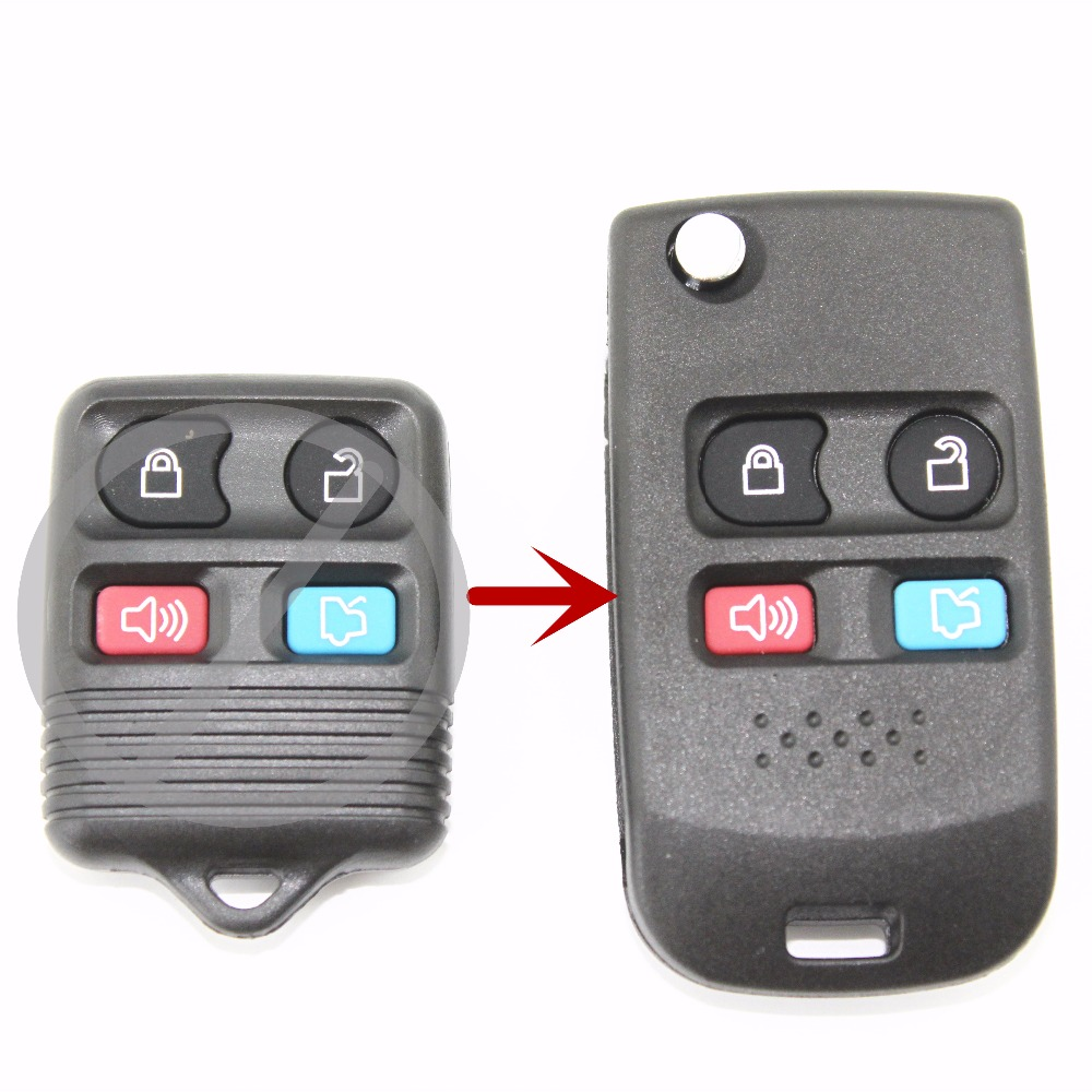4 buttons modified folding remote key flip fob shell for ford crown victoria escape expedition explorer