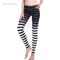 Nero Bianco Leggings Donne Fitness Banda Harajuku Legging Danza Femme Vendita Calda Gotico Pantaloni Allenamento Legins Mujer Sexy Pantaloni