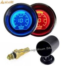 52 мм Автомобильный датчик температуры воды 12 в синий и красный светодиодный светильник Автомобильные приборы Цифровой темп метр EVO+ Калибр Pod держатель+ датчик