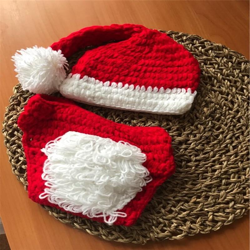Handmade Newborn Photography Props Crochet Knitted Bear Baby Hat Newborn Props Baby Bonnet Infant Studio Props Baby Stuff Hat